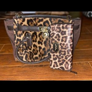 Cheetah Print Michael Kors Bag and Wallet